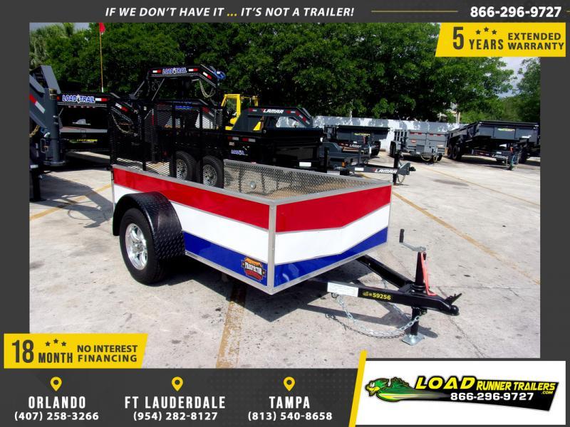 *109255* 5x8 Sport Utility Trailer W/Powder Coated Sides 5 x 8