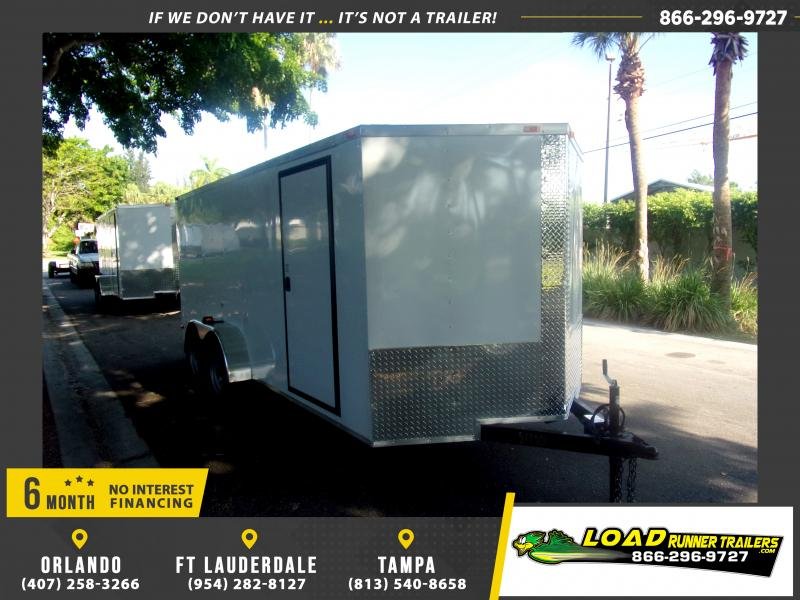 *116606* 7x16 Enclosed Cargo Trailer |LRT Tandem Axle Trailers 7 x 16