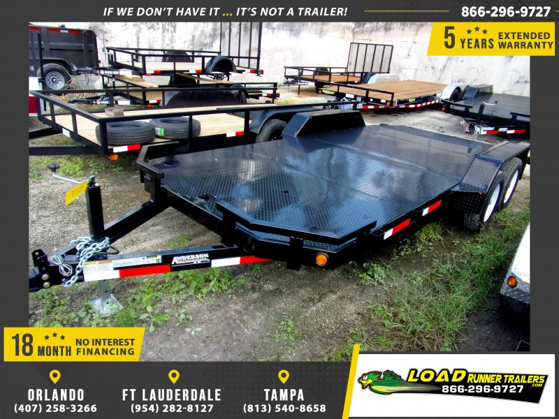 *111567* 7x18 Car Trailer |LRT Tandem Axle Trailers 7 x 18