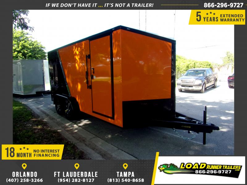 *112057* 7x16 Enclosed Cargo Trailer |LRT Tandem Axle Trailers 7 x 16
