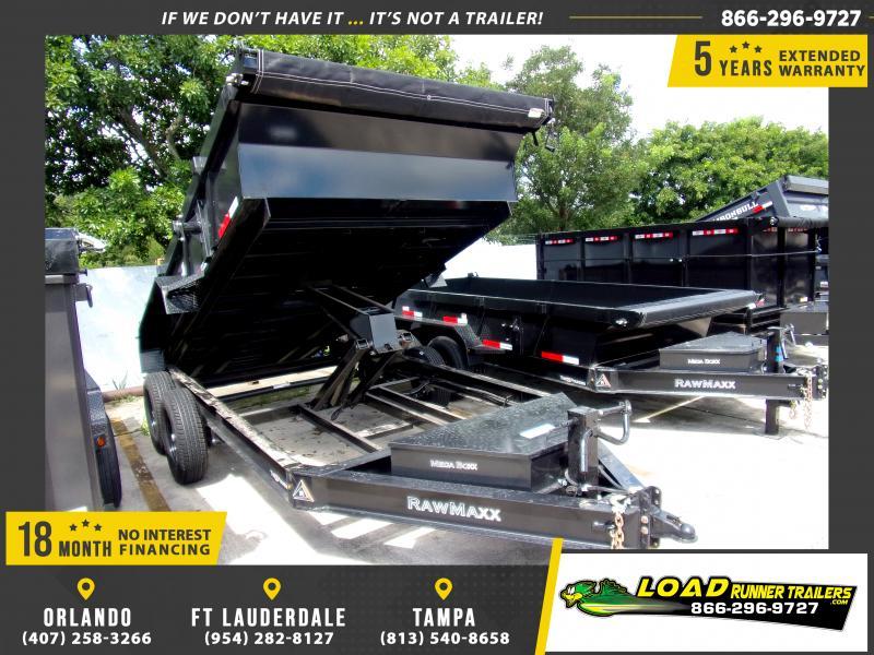*117351* 7x14 Dump Trailer |LRT Tandem Axle Trailers 7 x 14