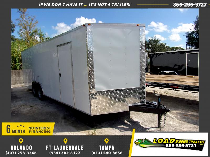*117768* 8.5x24 Enclosed Cargo Trailer  LRT Tandem Axle Trailers 8.5 x 24