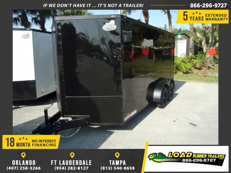 *114970* 7x14 Enclosed Cargo Trailer |LRT Tandem Axle Trailers 7 x 14