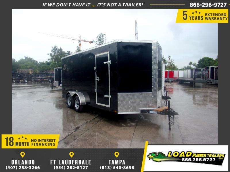 *118023* 7x16 Enclosed Cargo Trailer  LRT Tandem Axle Trailers 7 x 16