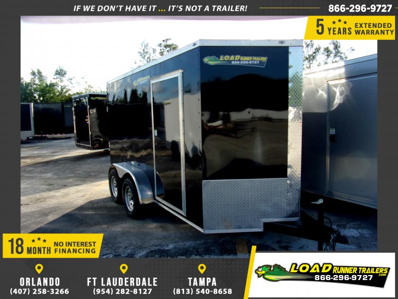 *111244* 6x12 Enclosed Cargo Trailer |LRT Tandem Axle Trailers 6 x 12