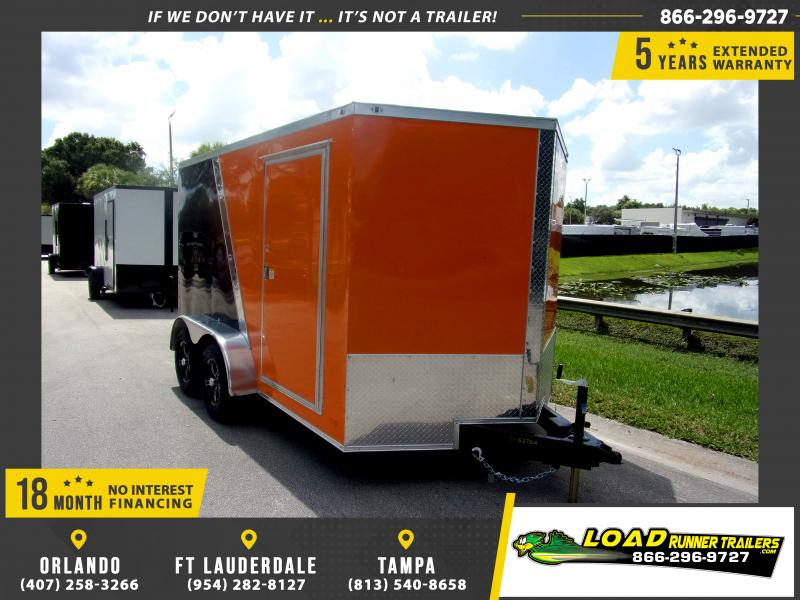 *110778* 7x12 Enclosed Cargo Trailer |LRT Tandem Axle Trailers 7 x 12