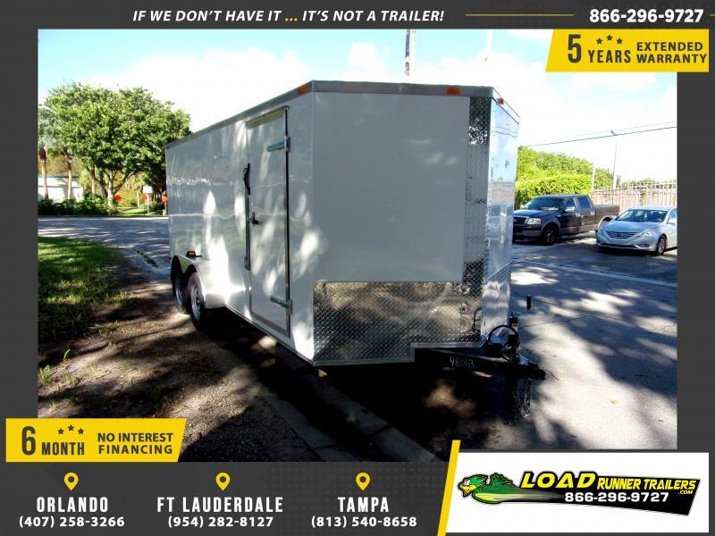 *FD714T3* 7x16 Enclosed Cargo Trailer |LRT Tandem Axle Trailers 7 x 16