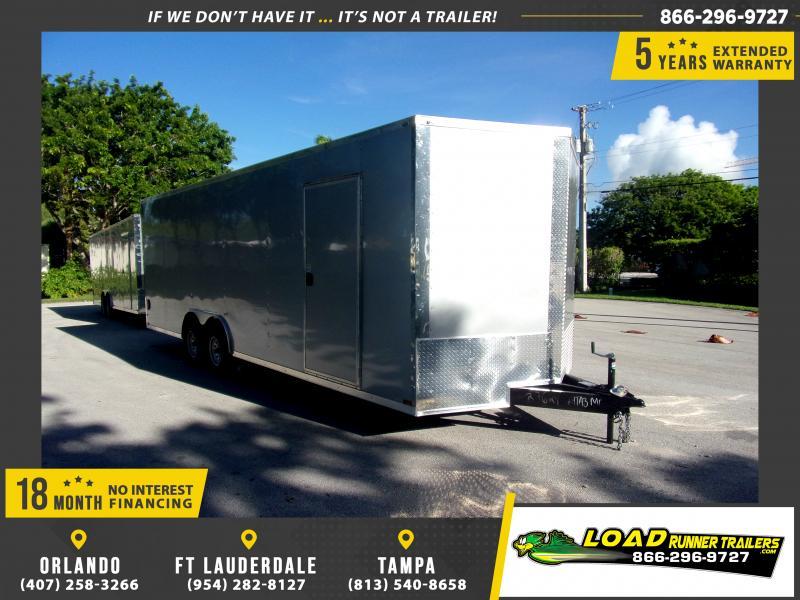 *117293* 8.5x24 Enclosed Cargo Trailer  LRT Tandem Axle Trailers 8.5 x 24
