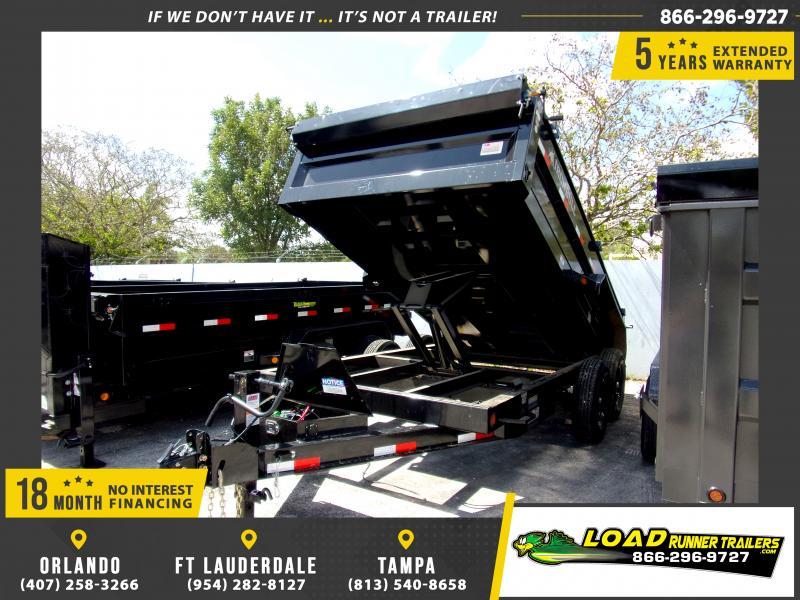 *115575* 7x14 Dump Trailer  LRT Tandem Axle Trailers 7 x 14