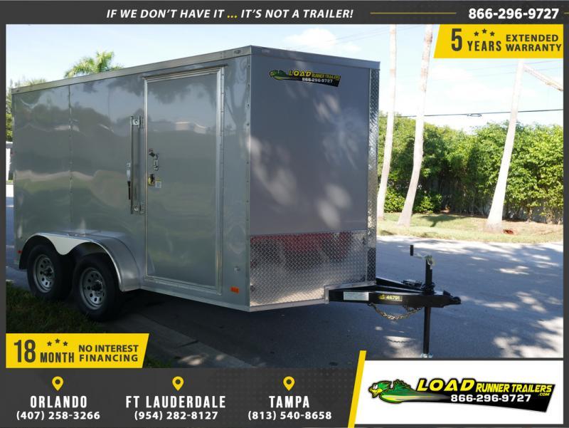 *E14B* 7x12 Enclosed Cargo Trailer Trailers Tandem Axle 7 x 12   EV7-12T3-R