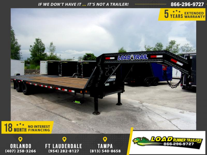 *109455* 8.5x32 Gooseneck Flatbed Deck Over Trailer |LRT Haulers & Trailers 8.5 x 32