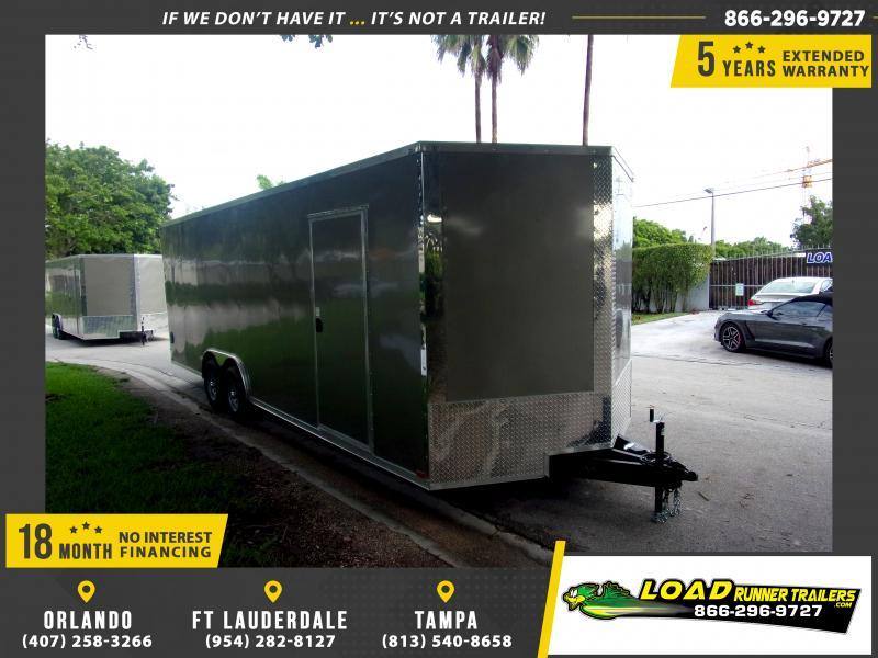 *116397* 8.5x24 Enclosed Cargo Trailer |LRT Tandem Axle Trailers 8.5 x 24