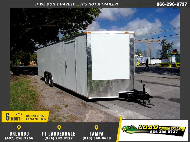*115195* 8.5x24 Enclosed Cargo Trailer |LRT Tandem Axle Trailers 8.5 x 24
