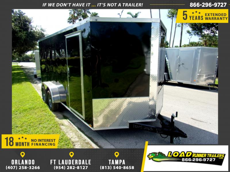 *118018* 7x16 Enclosed Cargo Trailer  LRT Tandem Axle Trailers 7 x 16