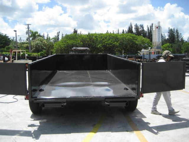 *DB55* 7x14 7 TON Twin Piston Dump Trailer LRT Dumps and Trailers 7 x 14 | D82-14T7-24S