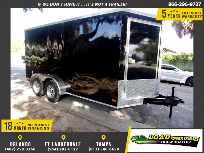 *112249* 7x14 Enclosed Cargo Trailer |LRT Tandem Axle Trailers 7 x 14