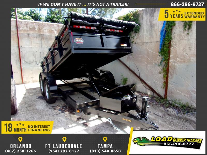 *116430* 6x12 Dump Trailer  LRT Tandem Axle Trailers 6 x 12