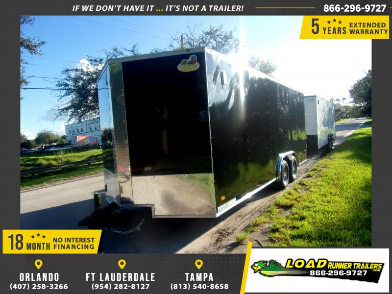 *117921* 8.5x20 5 TON ENCLOSED CARGO TRAILER DOUBLE DOORS | LOAD W/FORKLIFT 8.5 x 20