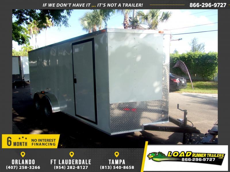 *116600* 7x16 Enclosed Cargo Trailer  LRT Tandem Axle Trailers 7 x 16