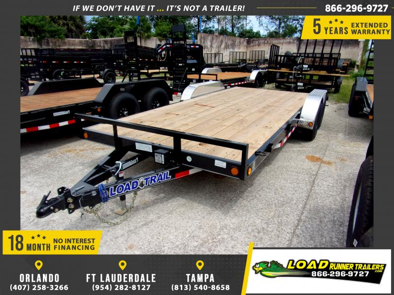 *114220* 7x18 Car Trailer |LRT Tandem Axle Trailers 7 x 18