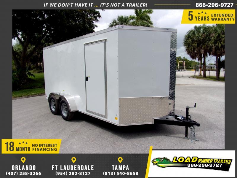 *E8J* 7x14 Enclosed Cargo Trailer |LRT Tandem Axle Trailers 7 x 14 | EV7-14T3-R