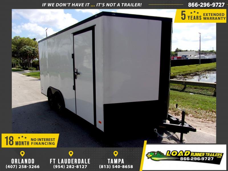 *114052* 8.5x16 Enclosed Cargo Trailer  LRT Tandem Axle Trailers 8.5 x 16