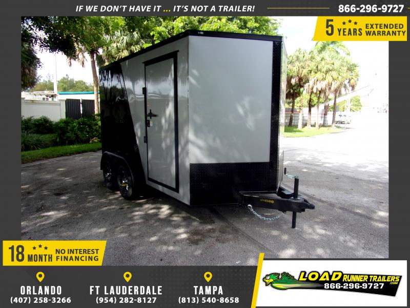 *112017* 7x12 Enclosed Cargo Trailer |LRT Tandem Axle Trailers 7 x 12