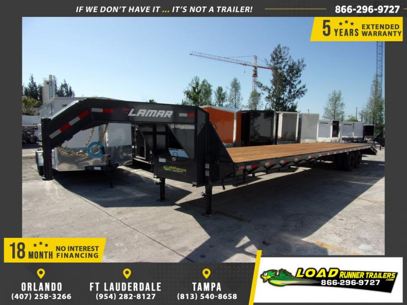 *109333* 8.5x40 Gooseneck Flatbed Deck Over Trailer |LRT Haulers & Trailers 8.5 x 40