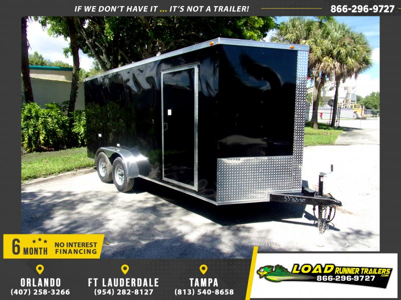 *117623* 7x16 Enclosed Cargo Trailer |LRT Tandem Axle Trailers 7 x 16