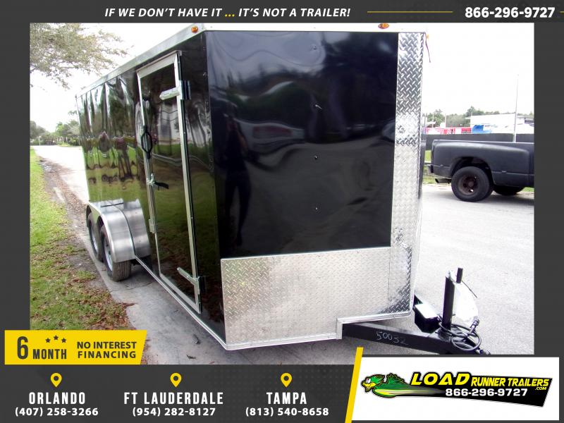 *113829* 7x16 Enclosed Cargo Trailer |LRT Tandem Axle Trailers 7 x 16