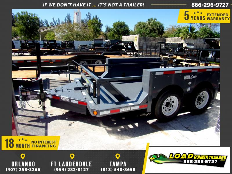 *111444* 6x14 Lift Bed Equipment Hauler Trailer 6 x 14