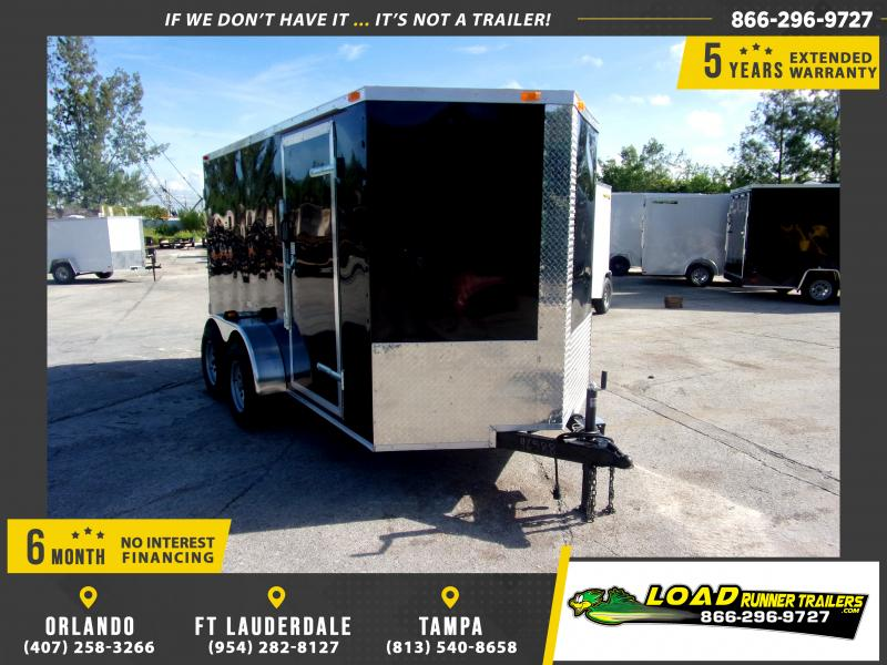 *111095* 6x12 Enclosed Cargo Trailer |LRT Tandem Axle Trailers 6 x 12