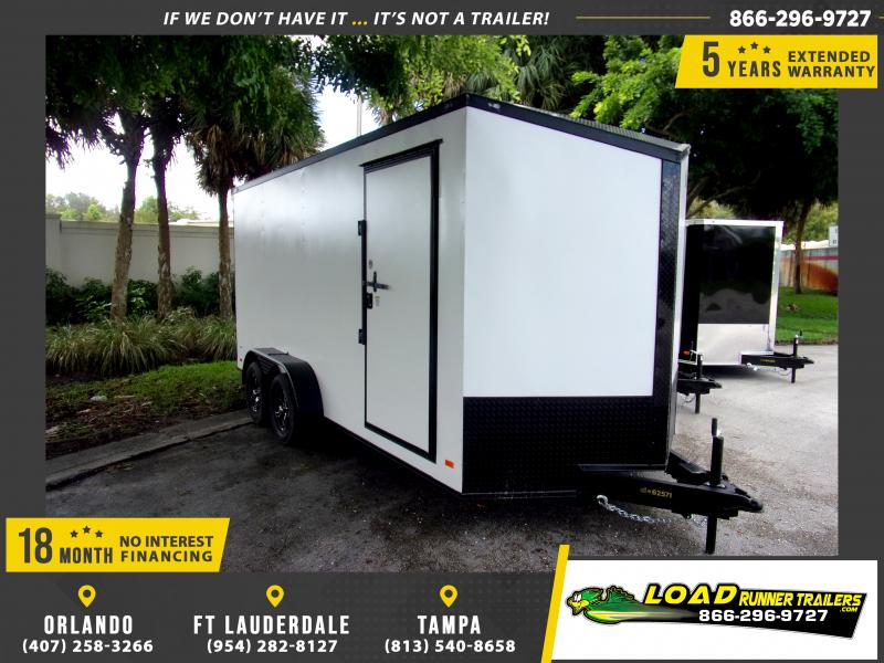 *115163* 7x16 Enclosed Cargo Trailer |LRT Tandem Axle Trailers 7 x 16