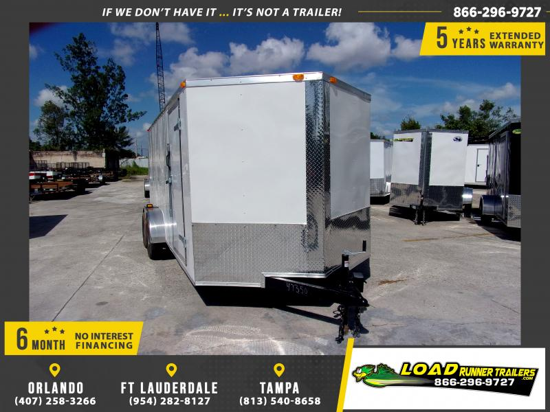 *111726* 7x16 Enclosed Cargo Trailer |LRT Tandem Axle Trailers 7 x 16