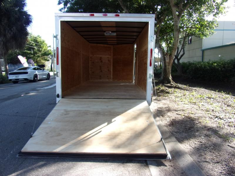 *112481* 7x14 Enclosed Cargo Trailer  LRT Tandem Axle Trailers 7 x 14