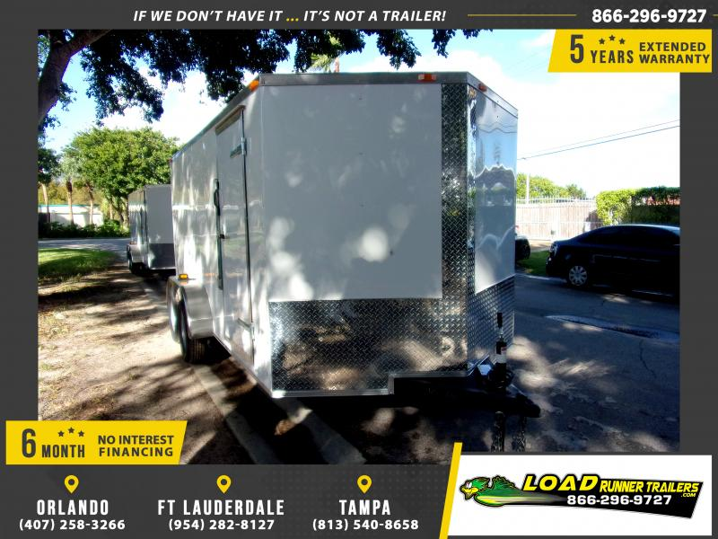 *112481* 7x14 Enclosed Cargo Trailer |LRT Tandem Axle Trailers 7 x 14