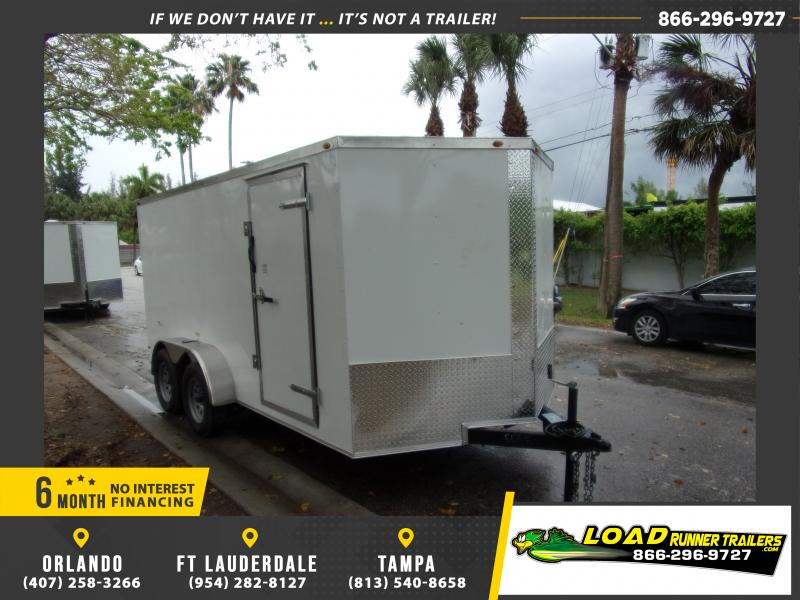 *114905* 7x14 Enclosed Cargo Trailer |LRT Tandem Axle Trailers 7 x 14