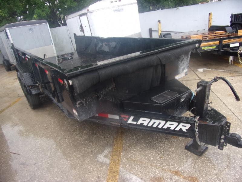 *115343* 7x16 Dump Trailer |LRT Tandem Axle Trailers 7 x 16