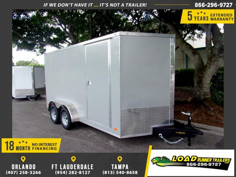 *115736* 7x14 Enclosed Cargo Trailer |LRT Tandem Axle Trailers 7 x 14