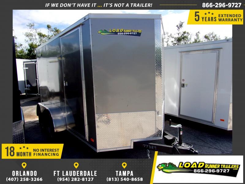 *117797* 6x12 Enclosed Cargo Trailer |LRT Tandem Axle Trailers 6 x 12
