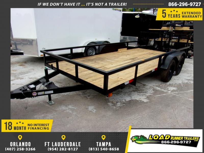 *113001* 7x16 Utility|Lawn|ATV|Multipurpose Trailer |LRT Tandem Axle Trailers 7 x 16