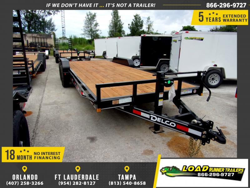 *110590* 7x22 Car Trailer |LRT Tandem Axle Trailers 7 x 22