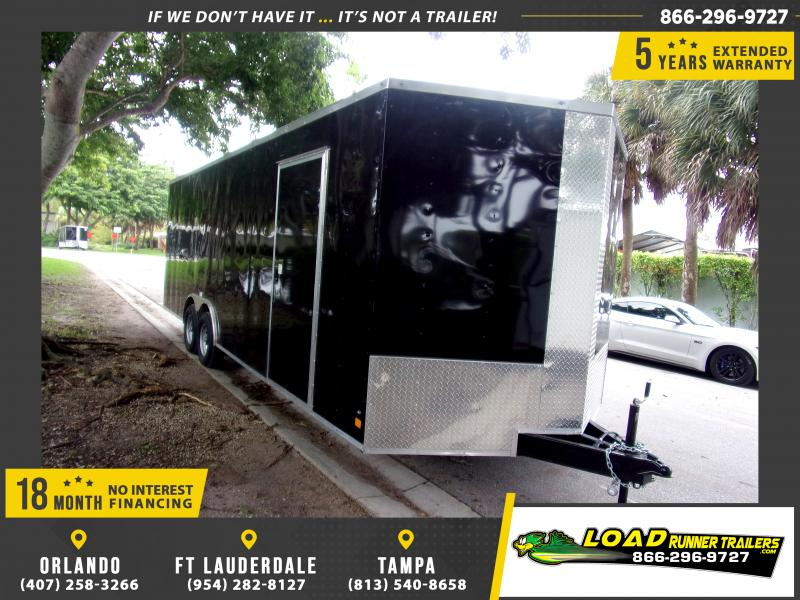 *115217* 8.5x24 Enclosed Cargo Trailer |LRT Tandem Axle Trailers 8.5 x 24