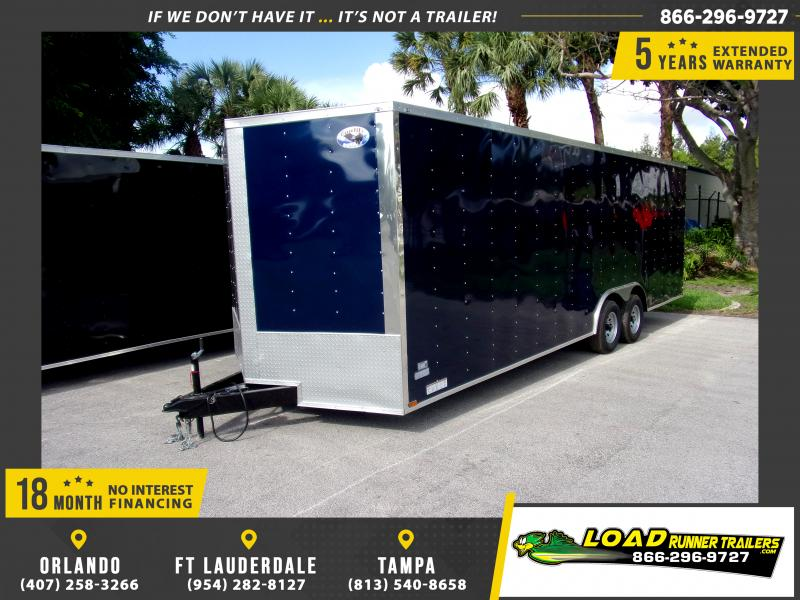 *115858* 8.5x24 Enclosed Cargo Trailer |LRT Tandem Axle Trailers 8.5 x 24