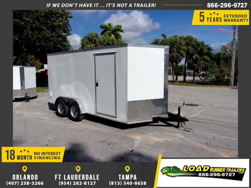 *114449* 7x14 Enclosed Cargo Trailer |LRT Tandem Axle Trailers 7 x 14