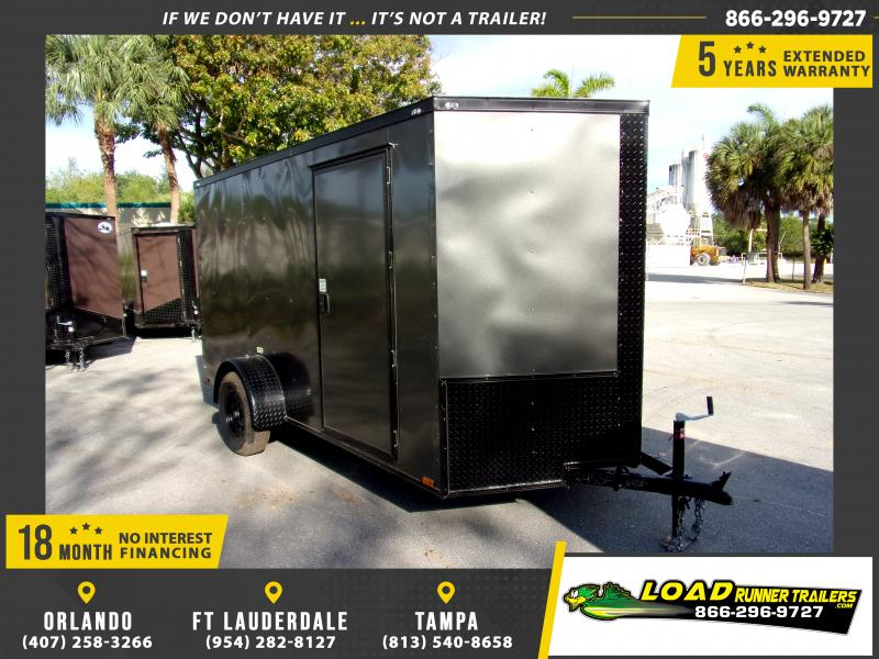 *114623* 6x12 Enclosed Cargo Trailer  LRT Haulers & Trailers 6 x 12
