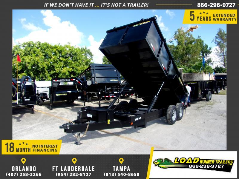 *111112* 7x16 Dump Trailer |LRT Tandem Axle Trailers 7 x 16
