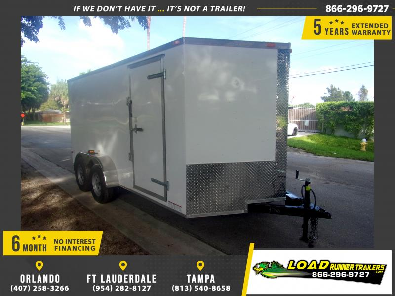 *112065* 7x14 Enclosed Cargo Trailer |LRT Tandem Axle Trailers 7 x 14