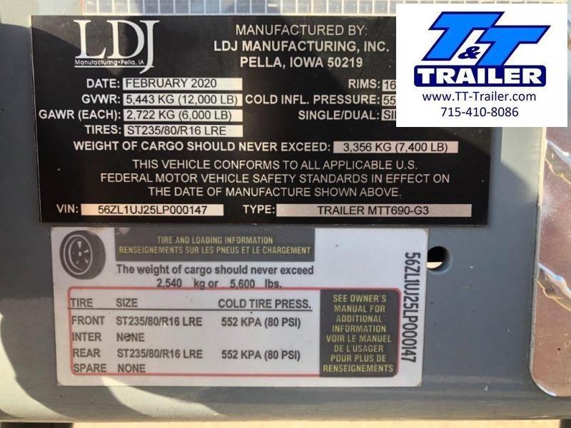 2020 Thunder Creek Equipment New 690 Gallon Multi Tank Service Trailer