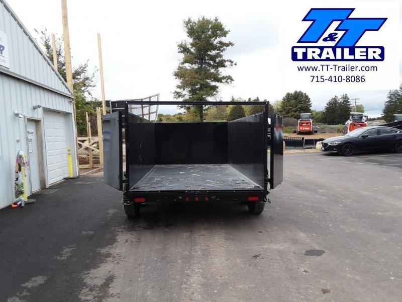 """2022 Big Tex 14LP 83"""" x 14' Heavy Duty Extra Wide Low Profile Dump Trailer with 4' Sides"""